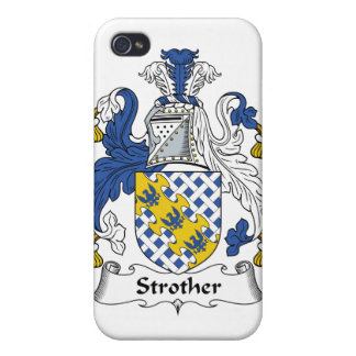 Escudo de la familia de Strother iPhone 4 Coberturas