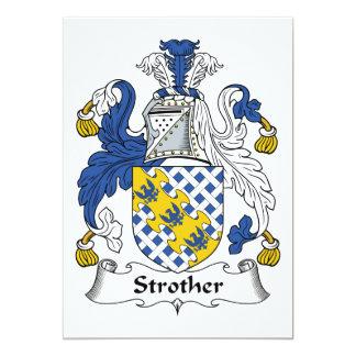 Escudo de la familia de Strother Invitación 12,7 X 17,8 Cm