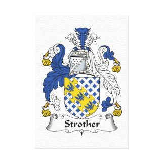 Escudo de la familia de Strother Impresiones En Lona Estiradas