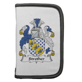 Escudo de la familia de Strother Planificador
