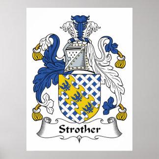 Escudo de la familia de Strother Posters