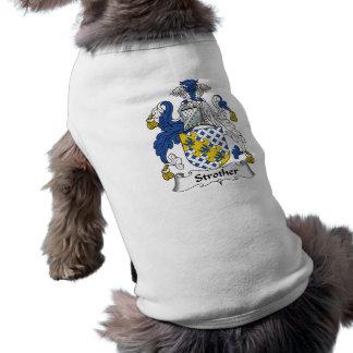 Escudo de la familia de Strother Ropa Perro