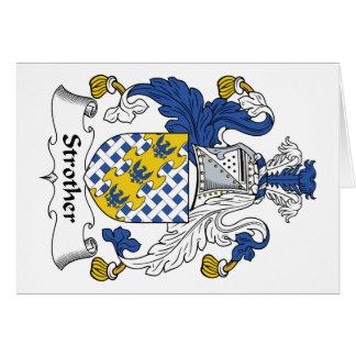 Escudo de la familia de Strother Tarjetas