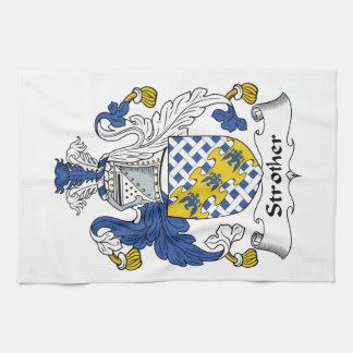 Escudo de la familia de Strother Toalla De Mano