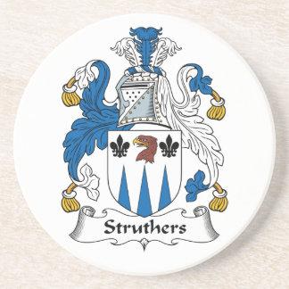 Escudo de la familia de Struthers Posavaso Para Bebida