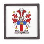 Escudo de la familia de Struve Cajas De Regalo De Calidad