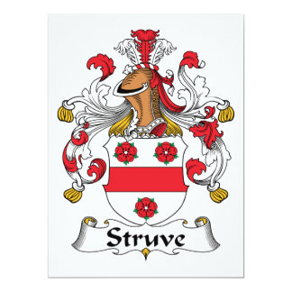 Escudo de la familia de Struve Invitaciones Personales