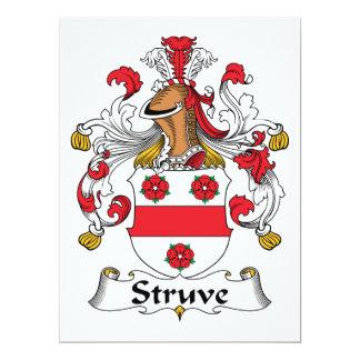 """Escudo de la familia de Struve Invitación 6.5"""" X 8.75"""""""