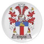 Escudo de la familia de Struve Platos De Comidas