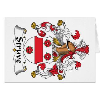 Escudo de la familia de Struve Felicitación