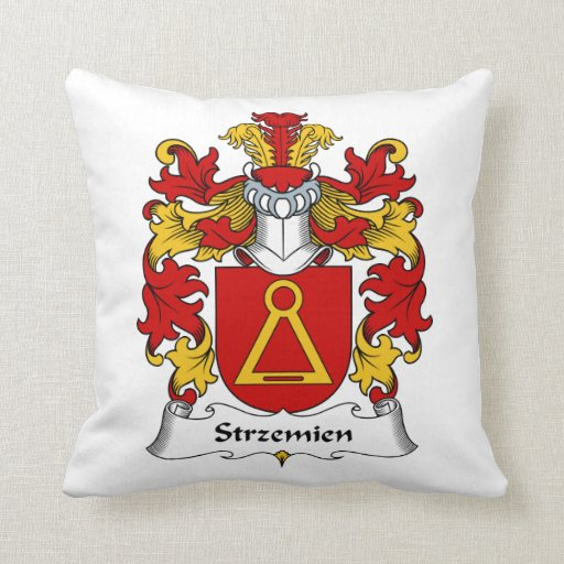 Escudo de la familia de Strzemien Cojín