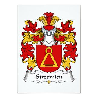 """Escudo de la familia de Strzemien Invitación 5"""" X 7"""""""