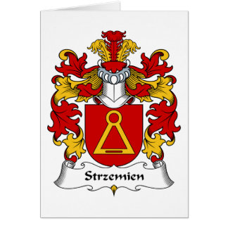 Escudo de la familia de Strzemien Tarjeta De Felicitación
