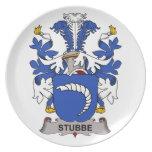 Escudo de la familia de Stubbe Platos Para Fiestas