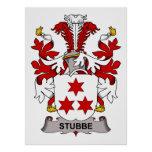 Escudo de la familia de Stubbe Posters