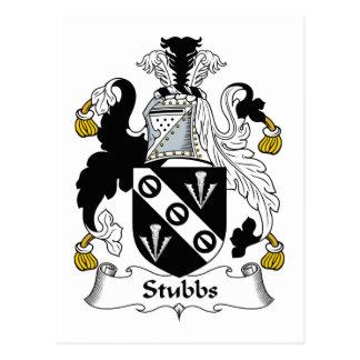 Escudo de la familia de Stubbs Tarjetas Postales