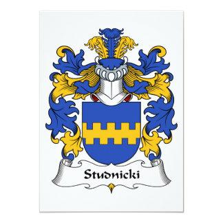 """Escudo de la familia de Studnicki Invitación 5"""" X 7"""""""