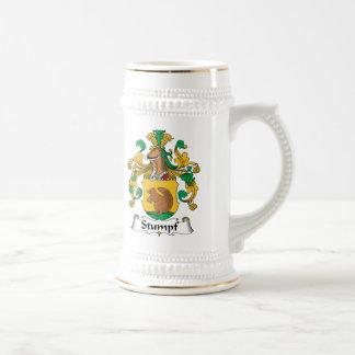 Escudo de la familia de Stumpf Jarra De Cerveza