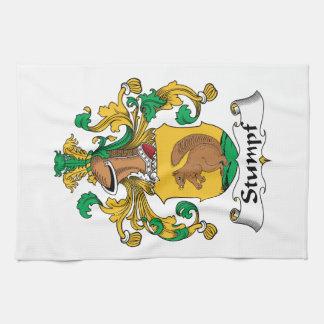 Escudo de la familia de Stumpf Toalla De Cocina