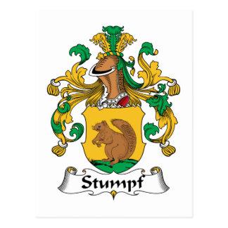 Escudo de la familia de Stumpf Tarjeta Postal