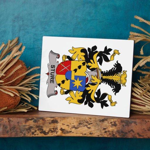 Escudo de la familia de Sture Placas Con Foto