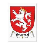 Escudo de la familia de Sturtzel Lona Envuelta Para Galerías