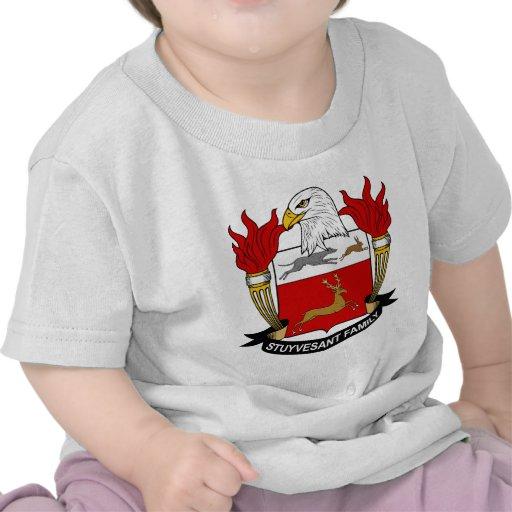 Escudo de la familia de Stuyvesant Camisetas