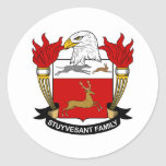 Escudo de la familia de Stuyvesant Pegatina Redonda