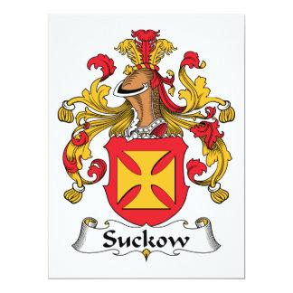 Escudo de la familia de Suckow Invitaciones Personales