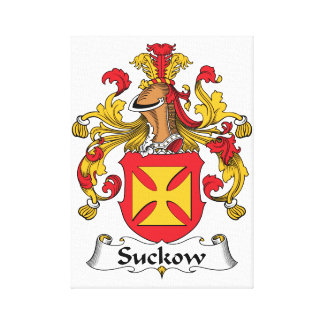 Escudo de la familia de Suckow Impresion De Lienzo