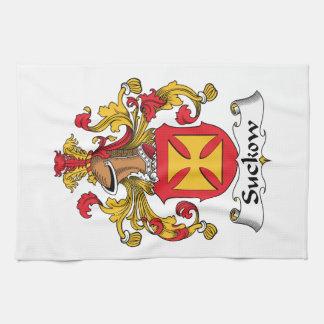 Escudo de la familia de Suckow Toallas De Mano