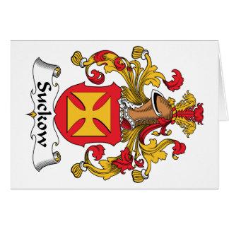 Escudo de la familia de Suckow Felicitacion