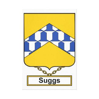 Escudo de la familia de Suggs Lona Envuelta Para Galerías