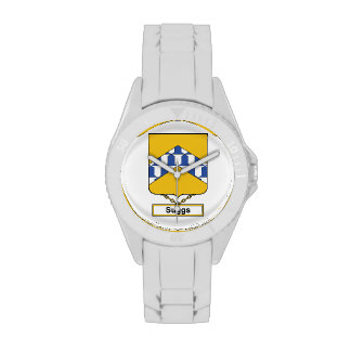 Escudo de la familia de Suggs Relojes De Mano