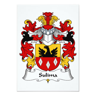 """Escudo de la familia de Sulima Invitación 5"""" X 7"""""""