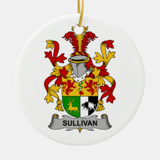 Escudo de la familia de Sullivan Adorno Redondo De Cerámica