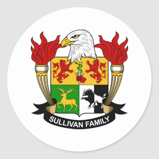 Escudo de la familia de Sullivan Etiquetas
