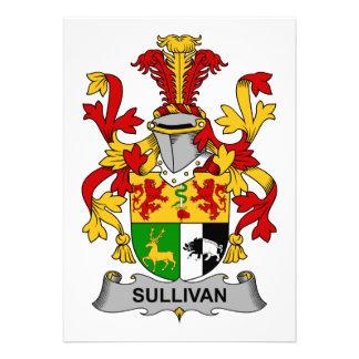 Escudo de la familia de Sullivan Invitación