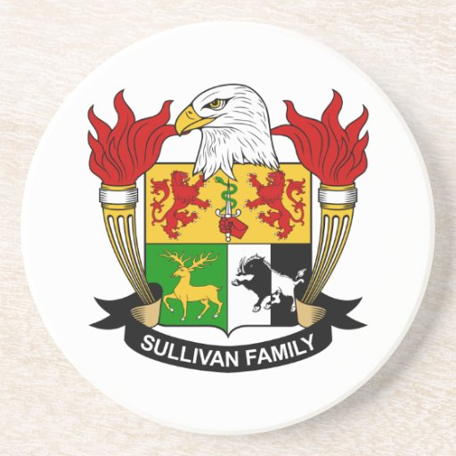 Escudo de la familia de Sullivan Posavasos Personalizados