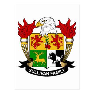Escudo de la familia de Sullivan Postal
