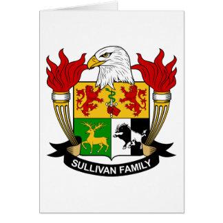 Escudo de la familia de Sullivan Tarjeta