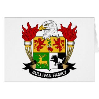 Escudo de la familia de Sullivan Felicitacion