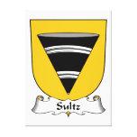 Escudo de la familia de Sultz Impresión De Lienzo