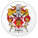 Escudo de la familia de Supico Relojes De Pared