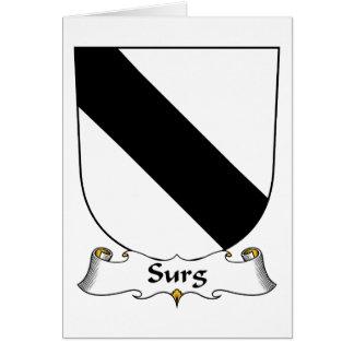 Escudo de la familia de Surg Tarjeta De Felicitación