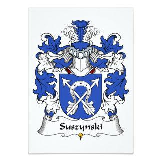 """Escudo de la familia de Suszynski Invitación 5"""" X 7"""""""