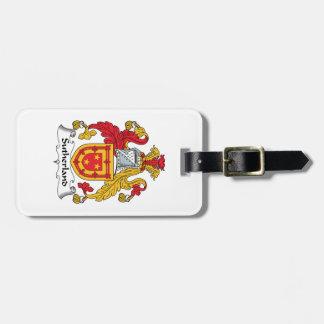 Escudo de la familia de Sutherland Etiqueta Para Maleta