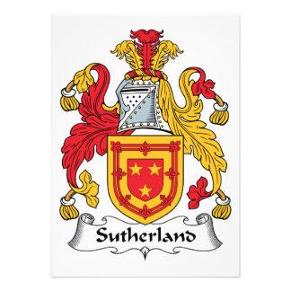 Escudo de la familia de Sutherland Invitación