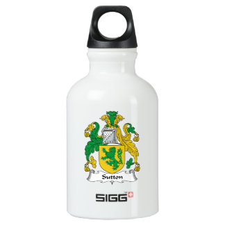 Escudo de la familia de Sutton Botella De Agua
