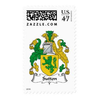 Escudo de la familia de Sutton Estampilla